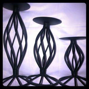3 Pillar Candle Holders